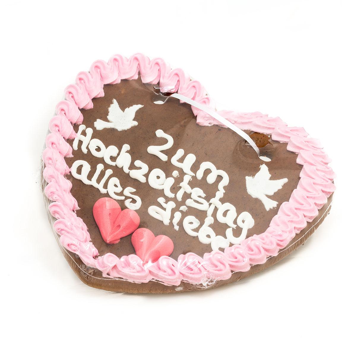 Lebkuchenherz Zum Hochzeitstag Alles Liebe Ca 24x24 Cm Zuckerkueche